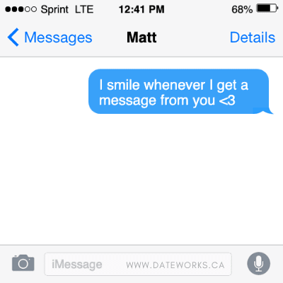 sweet & clever messages to text a guy you like
